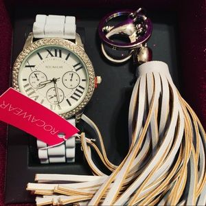 Rocawear watch and key chain